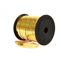 Rafie metalizata oro (aurie) pentru legat baloane latex sau folie - 5 mm x 100 m, Radar B36104, 1 rola
