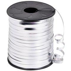 Rafie metalizata argento (argintie) pentru legat baloane latex sau folie - 5 mm x 100 m, Radar B36109, 1 rola