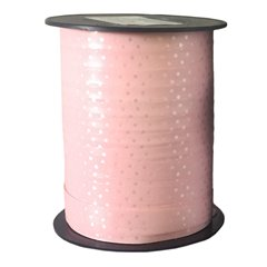 Rafie roz cu buline albe pentru decoratiuni - 10mm x 250m, Radar B41058
