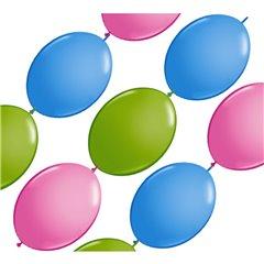 Banner Party din baloane latex asortate - 3m, Qualatex 19497