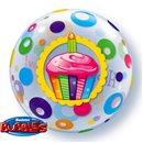 "Balon Bubble 22""/56cm Happy Birthday, Qualatex 23606"