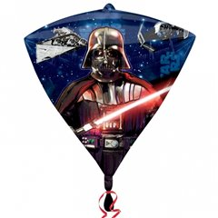 Balon Folie Diamondz Star Wars - 38x43cm, Amscan 3039801