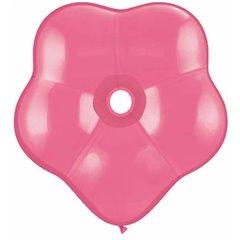 "Balon latex floare 6""/15cm rose - GEO Blossom, Qualatex 37662, Set 50 buc"