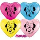 "Baloane latex inima 6""/16cm Minnie Mouse, Qualatex 45323, Set 100 buc"