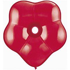 "Balon latex floare GEO Blossom 16""/41cm Rosu, Qualatex 39758, Set 50 buc"