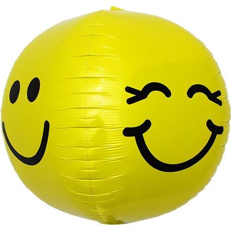 "Balon Folie Orbz Sfera Smiley Face - 17""/43cm, Northstar Balloons 01135"