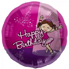 Balon folie 45cm Balerina Happy Birthday, Northstar Ballonns 00829