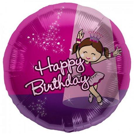 Balon folie 45cm Balerina Happy Birthday, Northstar Ballonns 00829