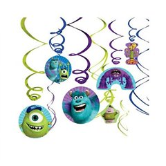 Decor serpentine Monsters University, Amscan 996834, Set 6 buc