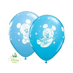 "Baloane latex 11""/28 cm Mickey Mouse Baby , Qualatex 42839, Set 25 buc"
