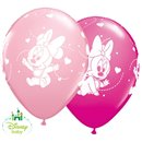 "Baloane latex 11""/28cm inscriptionate Baby Minnie Mouse, Qualatex 42843, Set 25 buc"