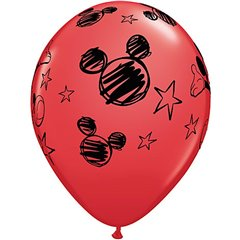 Baloane latex 12''- Mickey Mouse, Qualatex 19231, Set 6buc