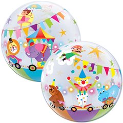 "Balon Bubble 22""/56cm Parada de Circ, Qualatex 25243"