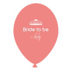 Baloane latex somon pentru burlacite - Bride to Be Lucky, Radar GI.BTBL.SOMON