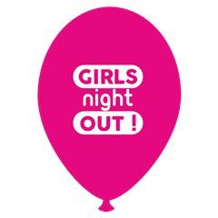 Baloane latex fuchsia pentru burlacite - Girls Night Out, Radar GI.GNO.F