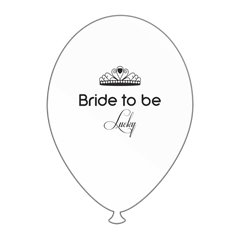 Baloane latex albe pentru burlacite - Bride to Be Lucky, Radar GI.BTBL.WBK