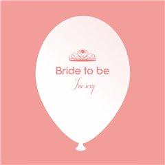 Baloane latex albe pentru burlacite - Bride to Be I'm Sexy, Radar GI.BTBIS.WSOMON