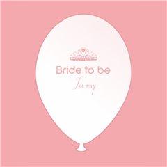 Baloane latex albe pentru burlacite - Bride to Be I'm Sexy, Radar GI.BTBIS.WPINK