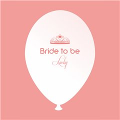 Baloane latex albe pentru burlacite - Bride to Be Lucky, Radar GI.BTBL.WSOMON