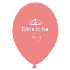Baloane latex somon pentru burlacite - Bride to Be I'm Sexy, Radar GI.BTBIS.SOMON