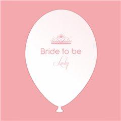 Baloane latex albe pentru burlacite - Bride to Be Lucky, Radar GI.BTBL.WPINK