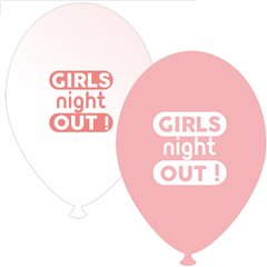 Baloane latex asortate pentru burlacite - Girls Night Out, Radar GI.GNO.PINK/WH