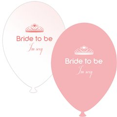 Baloane latex asortate pentru burlacite - Bride to Be I'm Sexy, Radar GI.BTBIS.PINK/WH