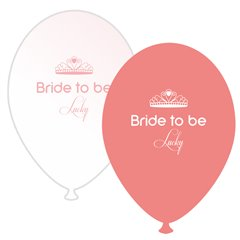 Baloane latex asortate pentru burlacite - Bride to Be Lucky, Radar GI.BTBL.SOMON/WH