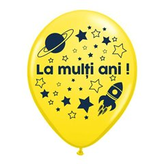 "Baloane latex inscriptionate ""La multi ani!"", Radar GI.LMA.ASTRO.YELLOW"