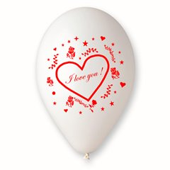 "Baloane latex 10""/26cm inscriptionate ""Love"", Radar GI90.LOVE"
