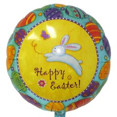 Balon Folie 45 cm Happy Easter, Amscan 12063