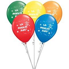 Buchet din baloane latex asortate La multi ani, Radar BB.GI.LMA.T2