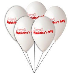 Buchet din baloane latex asortate Valentine's Day, Radar BB.GI.LOVE.WH.T1