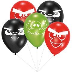 Buchet din baloane latex asortate Angry Birds cu heliu, Amscan BB.RM450291