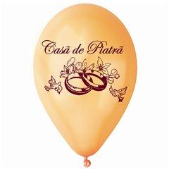 """Baloane latex sidefate peach inscriptionate """"Casa de Piatra"""", Radar GMI.CP.PEACH"""