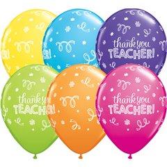 "Baloane latex 11"" inscriptionate Thank You Teacher, Qualatex 13951"