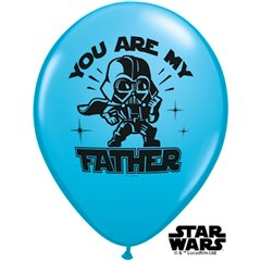 "Baloane latex 11"" Star Wars - You are my father, Qualatex 24358, Set 25 buc"