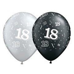 "Baloane latex  11"" Asortate 18 ani , Qualatex 25064"