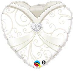 Balon Folie 45 cm Wedding Gown, Qualatex 15791