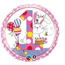 Balon Folie 45 cm Cifra 1 Iepuras, Qualatex 22615