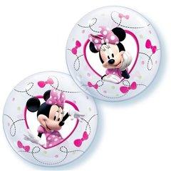 Set 10 baloane Air Bubble Minnie + bat si rozeta, Qualatex 22880