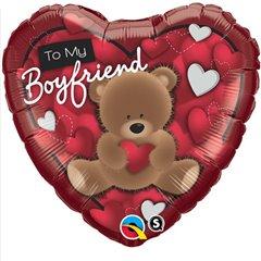 """Balon Folie 45 cm Inima """"To My Boyfriend"""", Qualatex 41320"""