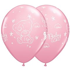 Baloane Latex 28 cm Roz Me to You Baby Girl, Qualatex 45369, Set 25 buc