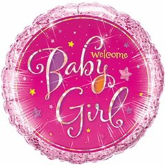 Balon Mini Folie 23 cm Welcome Baby Girl, Qualatex 41937