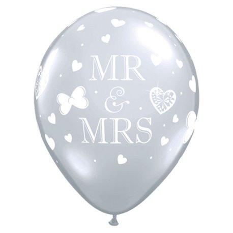 "Baloane 11"" Inscriptionate Mr&Mrs, Qualatex 18654"