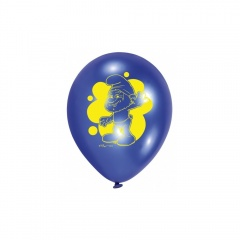 "Baloane latex 9""/23cm Smurfs Movie , Amscan RM450306, Set 6 buc"