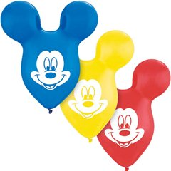 "Baloane latex Urechi Mickey Mouse- 15""/38cm, Qualatex 73592"