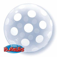 Balon Bubbles Polka Dots, Qualatex 16872