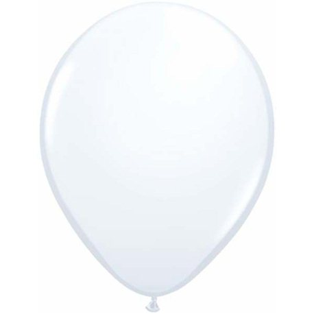 Balon Latex Alb, 5 inch (13 cm), Qualatex 43607, Set 100 buc