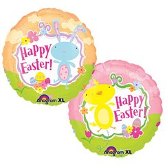 Folie 45 cm Amscan,Happy Easter Pui, 15288